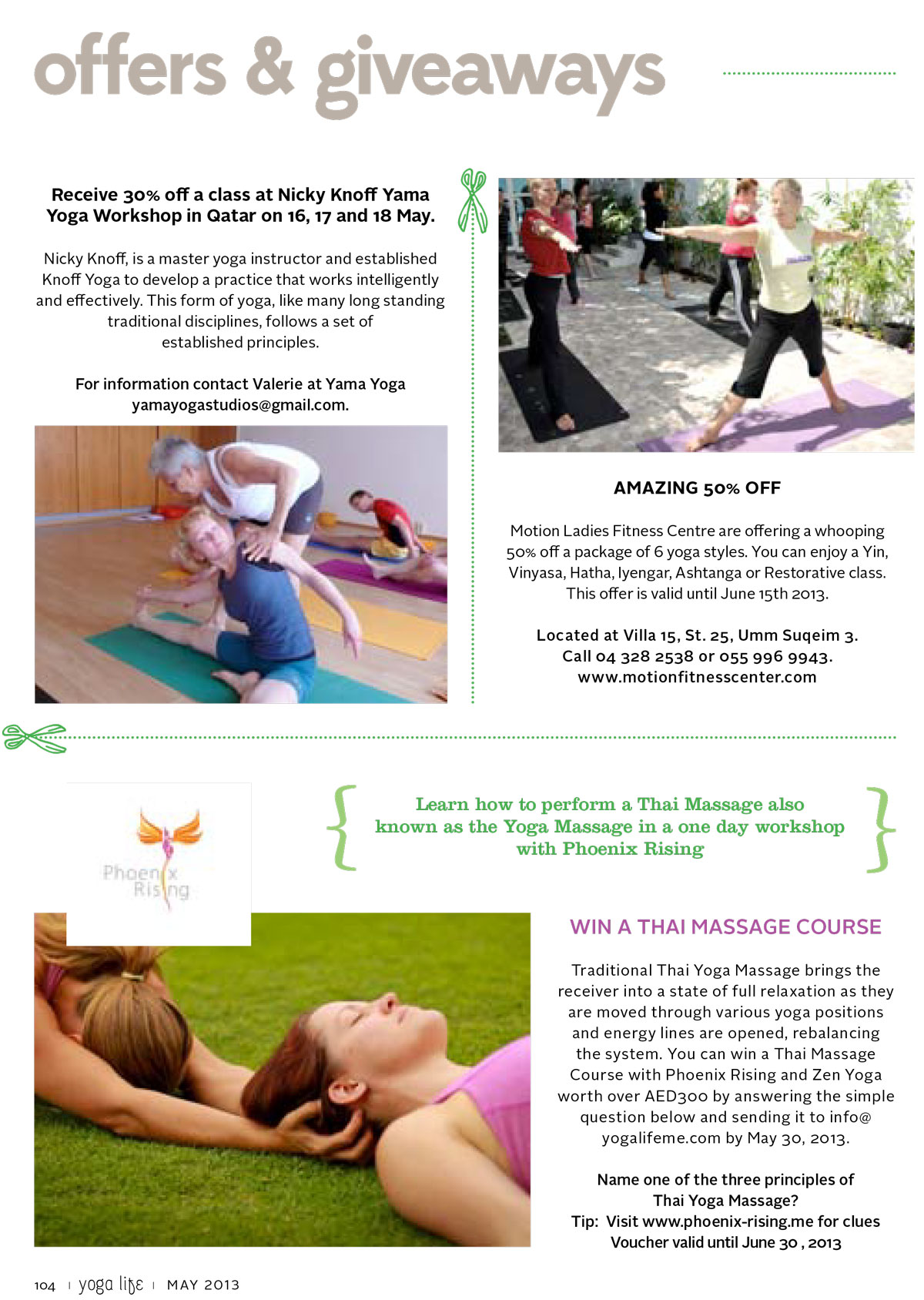 Yoga-Life-May-Thai-massage-competition-May-2013